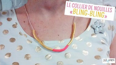 """Le collier de nouilles """"bling-bling"""" pour la Fête des mères"""
