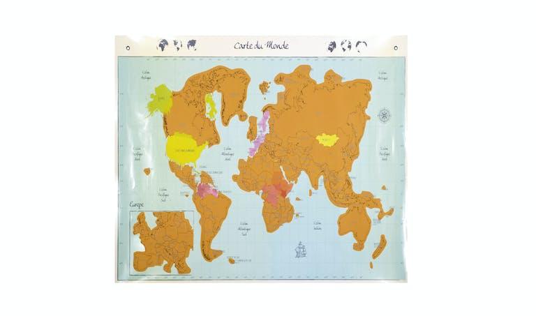 Carte du monde pour la fête de pères