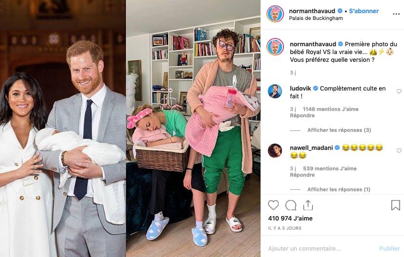 Norman Thavaud : bébé royal vs/ réalité