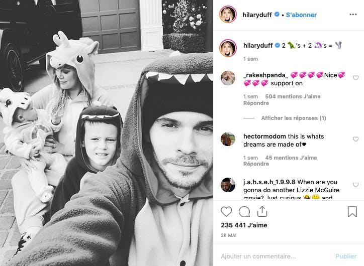 Hilary Duff et sa famille de licornes