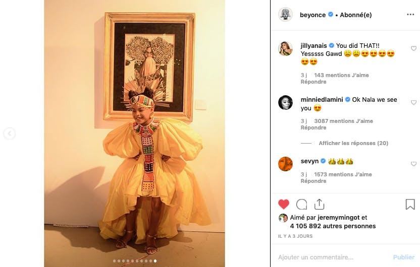 Beyoncé : sa fille Blue Ivy de retour sur les réseaux sociaux