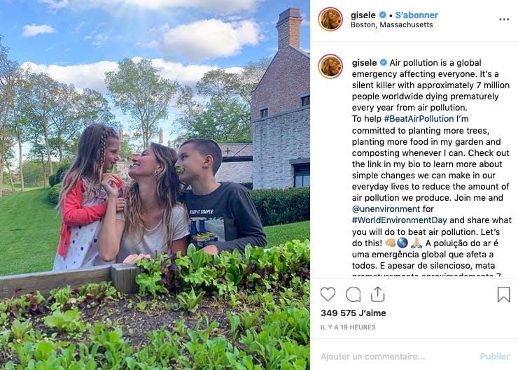 Gisele Bundchen et ses enfants : vive la salade !