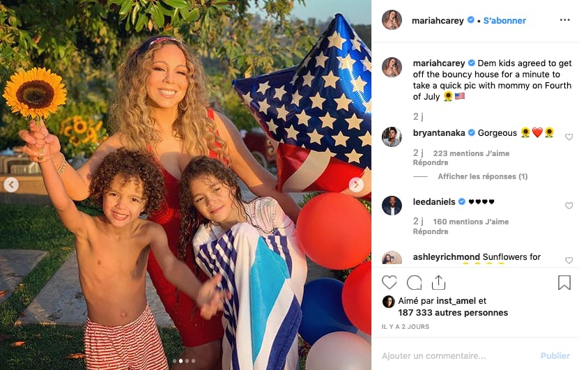Maria Carey et ses enfants, prêts pour la grande fête patriotique du 4 juillet