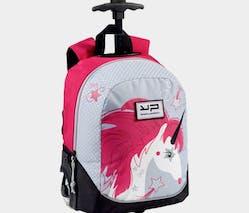 Le sac-à-dos à roulettes lumineuses Licorne