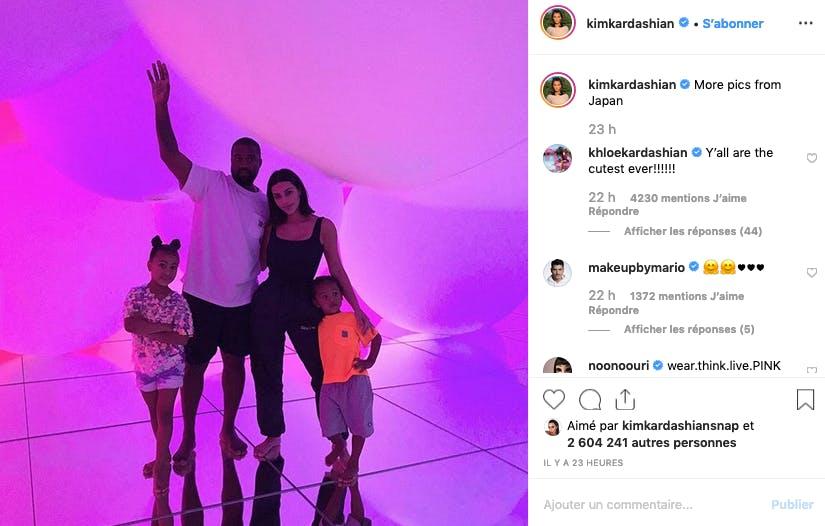 Kim Kardashian : le Japon en famille