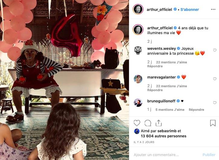 Spectacle d'anniversaire pour les 4 ans de Manava, fille d'Arthur et de Mareva Galanter