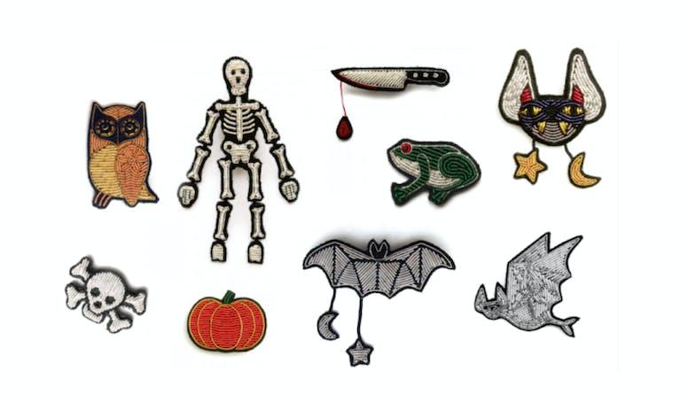 Broches brodées Halloween