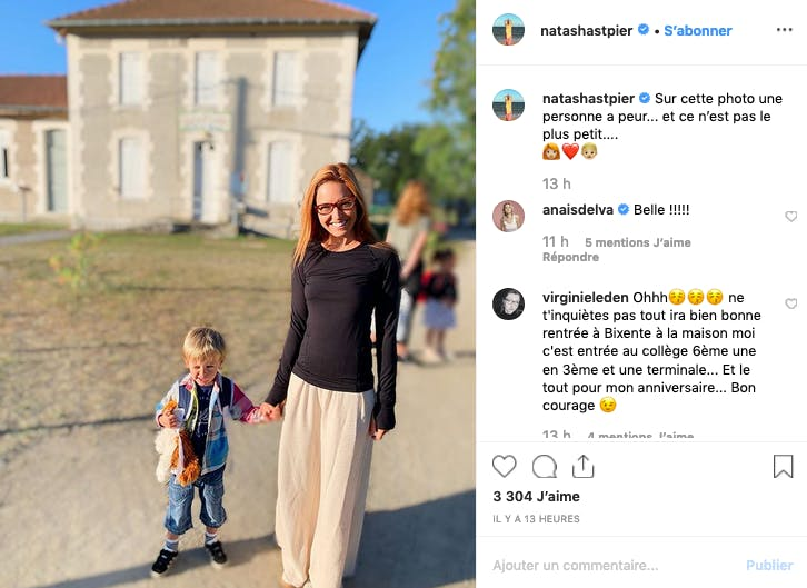 Natasha Saint-Pier : Première rentrée pour Bixente