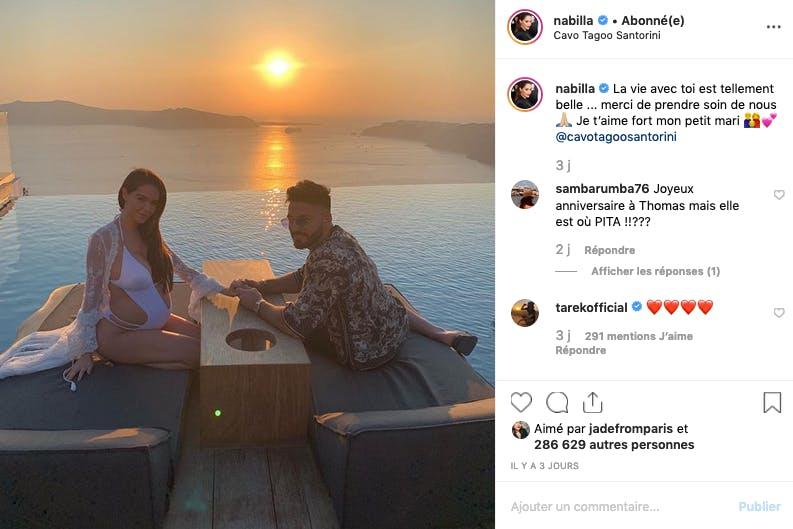 Nabilla et Thomas : vacances en amoureux à Santorin avant l'arrivée de bébé