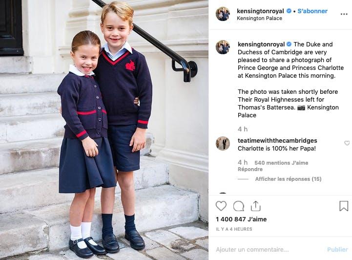 George et Charlotte de Cambridge ont fait leur rentrée !