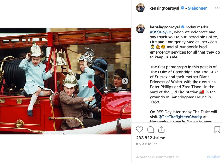 Photo d'archive trop choupi des princes William et Harry et de leur maman Lady Diana