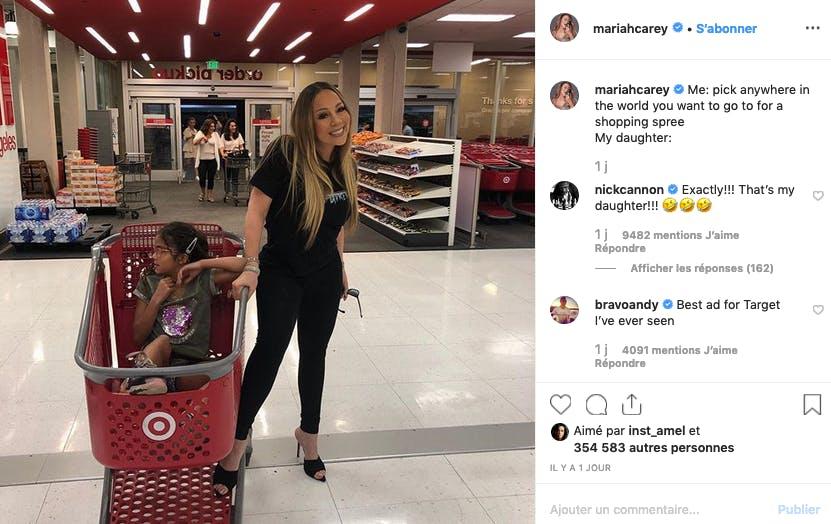 Mariah Carey, une maman (presque) comme les autres au supermarché