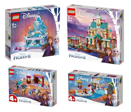 Plusieurs boîtes LEGO La Reine des Neige 2