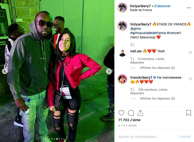 Hiziya Ribéry invitée VIP au concert de Maître Gims