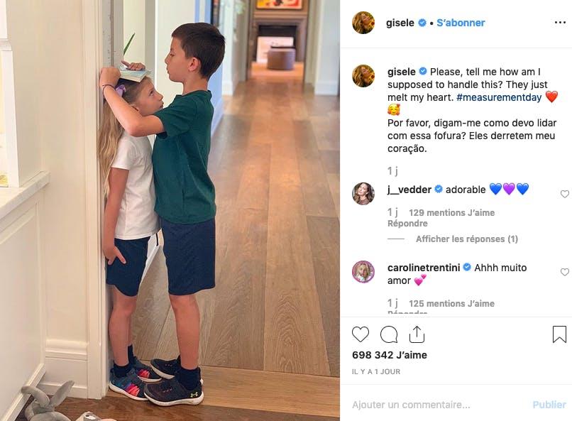 Les enfants de Gisele Bündchen : bientôt aussi grands que maman ?