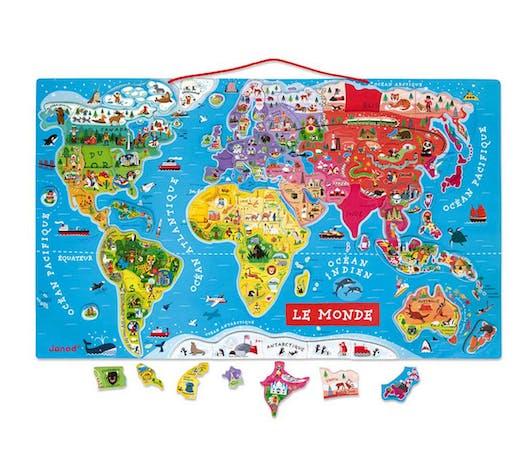 La carte du monde magnétique Janod