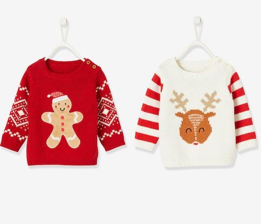 Les pulls de Noël pour bébé de Verbaudet