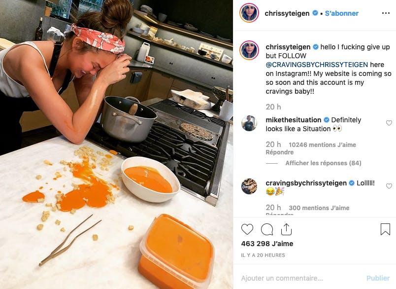 Chrissy Theigen vs tarte à la citrouille