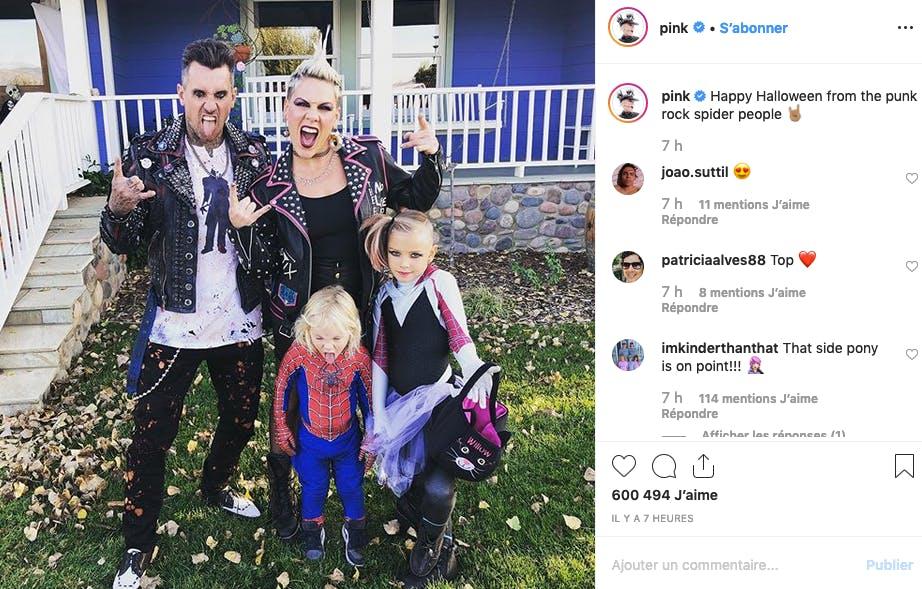 Pink : une famille rock'n'roll !