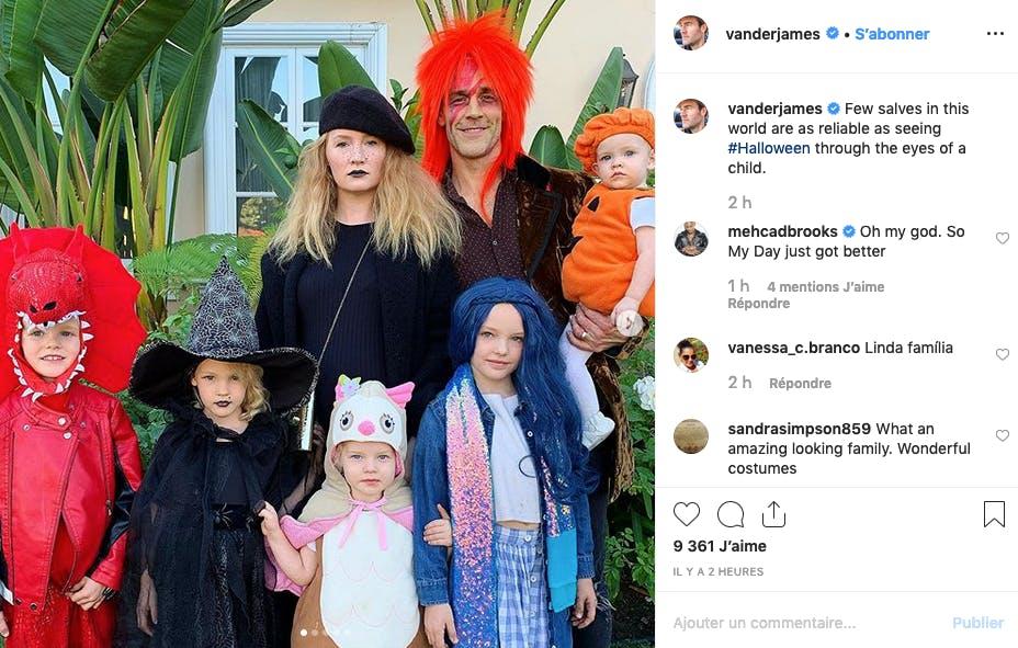 James Van Der Beck et sa tribu de cinq enfants (bientôt 6)