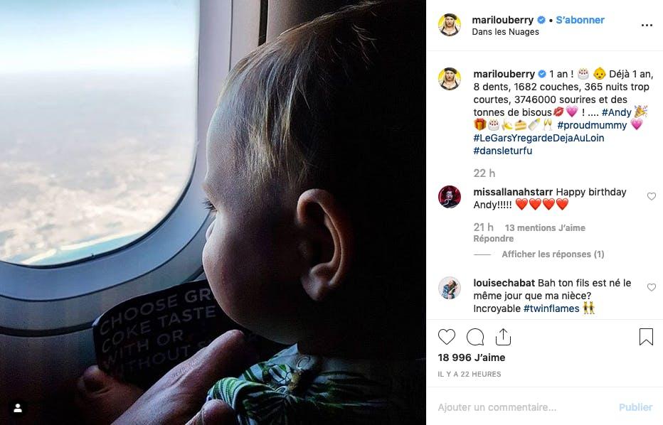 Marilou Berry : Son petit Andy a déjà la tête dans les nuages
