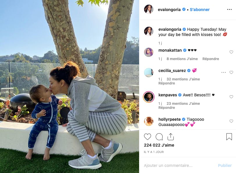 Eva Longoria, fusionnelle avec son petit Santiago