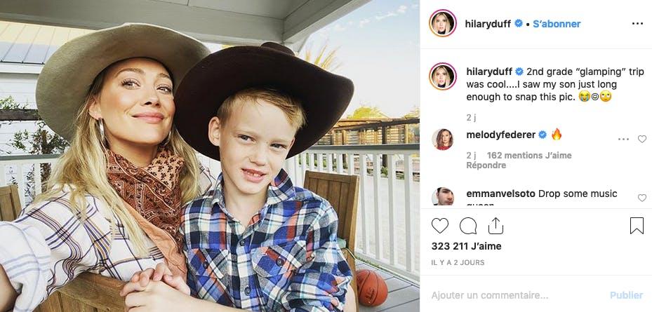 Hilary Duff et son fils en vacances