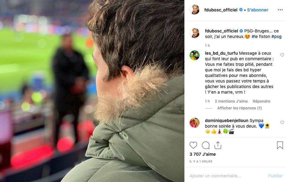 Franck Dubosc et son garçon partagent la même passion pour le foot