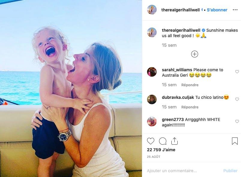 Geri Halliwell : maman la plus épicée de l'année