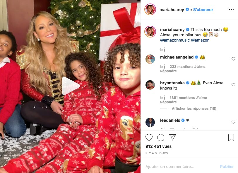 Mariah Carey : all I want for Christmas...