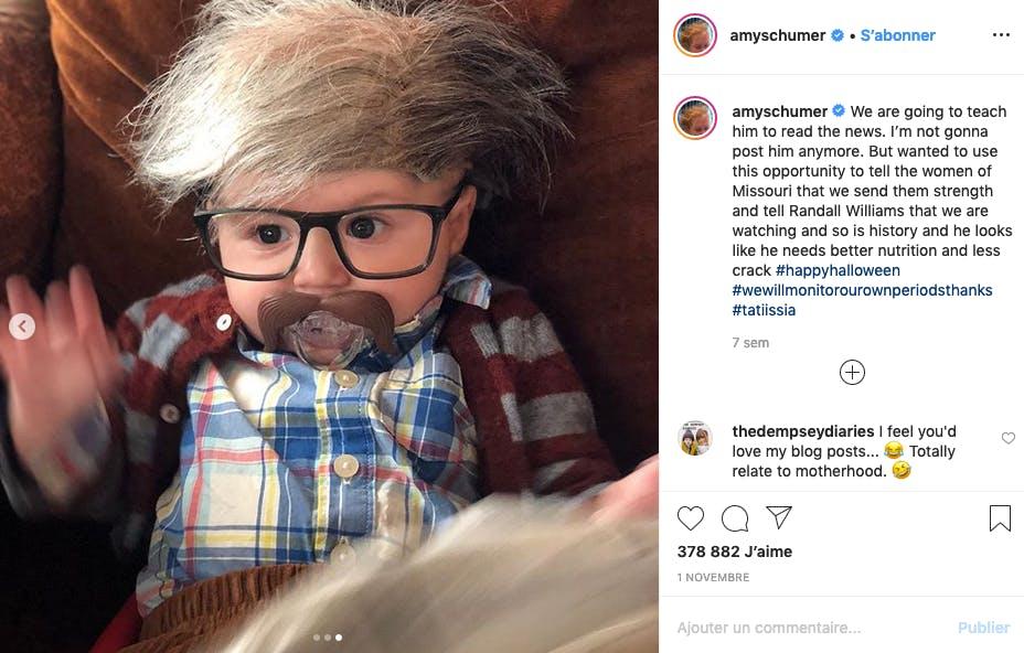 Le bébé d'Amy Schumer : déguisement le plus drôle de l'année