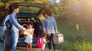 famille en pique nique