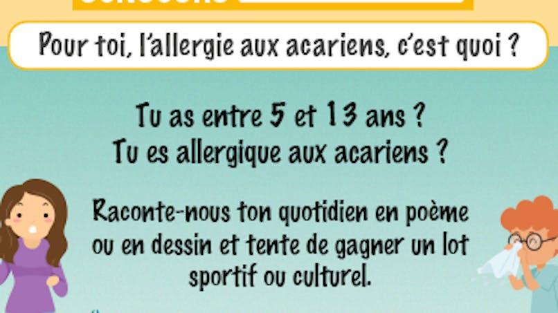 Allergie aux acariens : un concours destiné aux enfants
