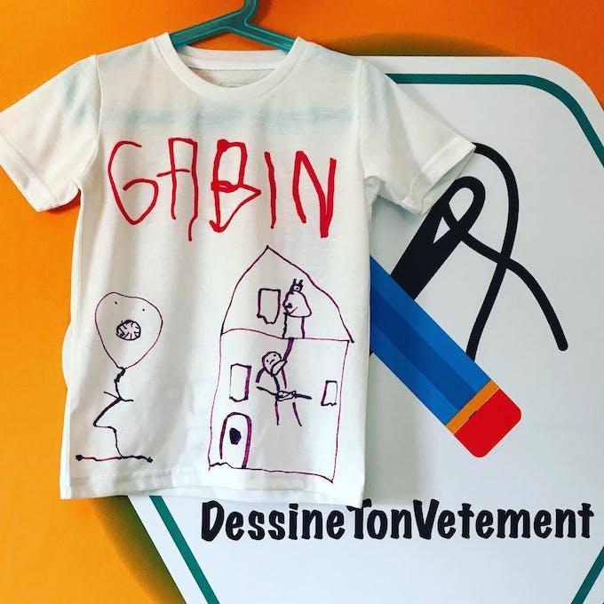 tee-shirt dessiné par un enfant