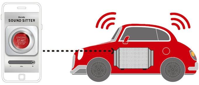 application mobile Honda et jouet Sound Sitter