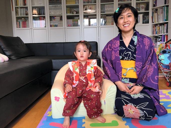 maman japonaise et sa fille
