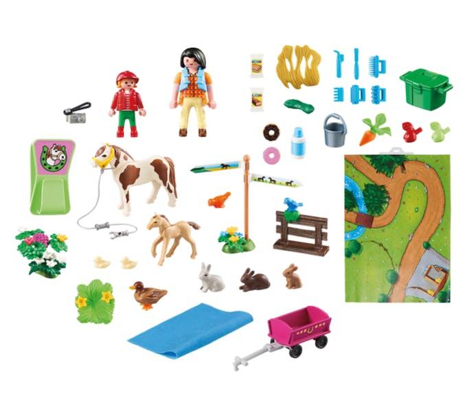 contenu Play Map cavaliers et poneys