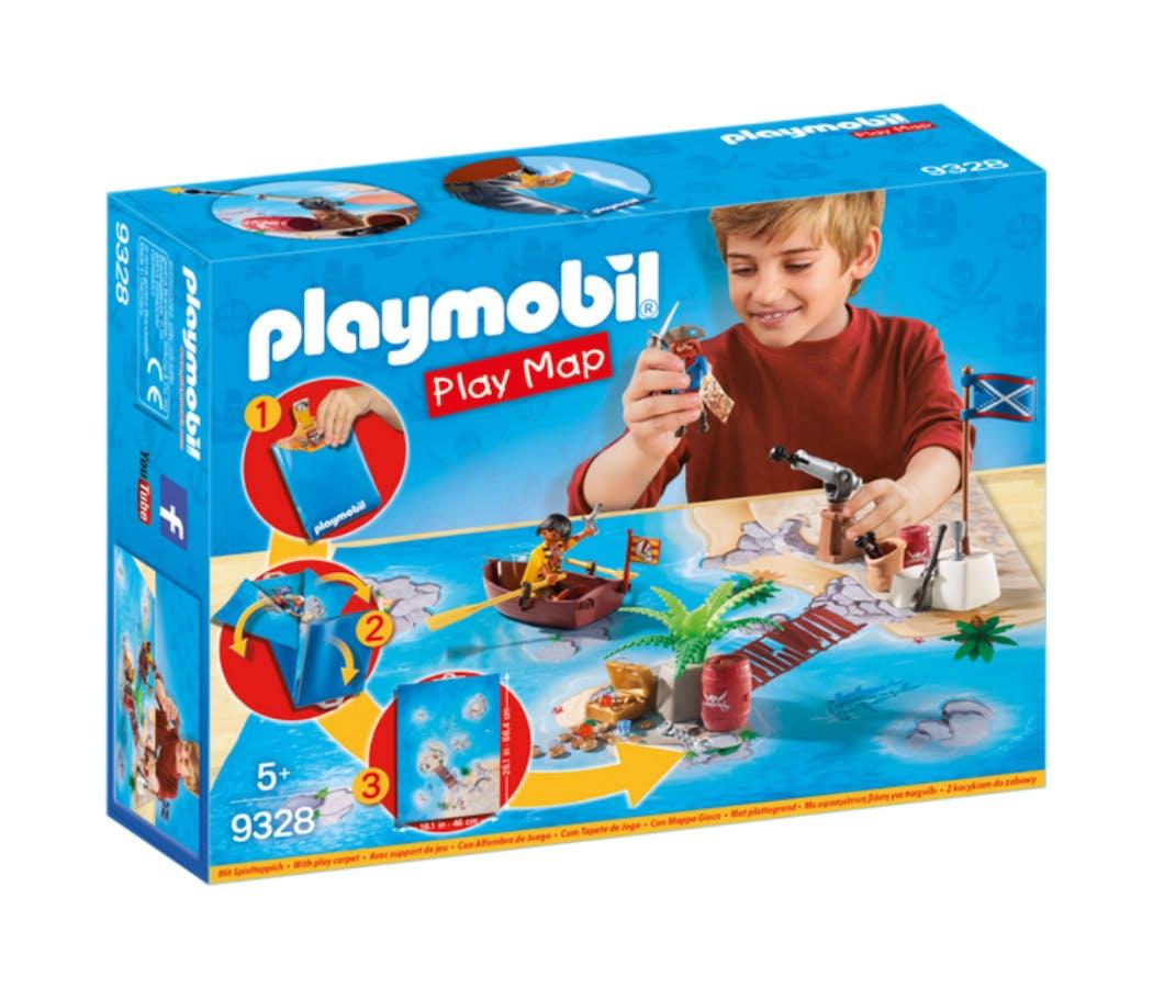 Boîte Play Map Pirates Playmobil
