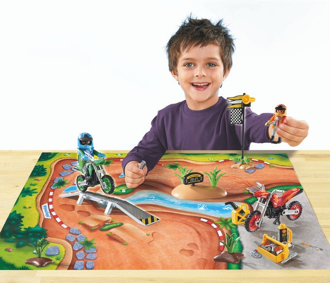 Play Map Moto-cross Playmobil