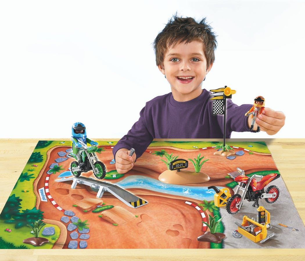 Play Map Moto-cross Playmobil