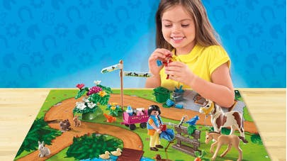 Play Map cavaliers et poneys Playmobil