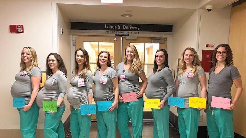 Etats-Unis : 9 infirmières du même service enceintes en même temps