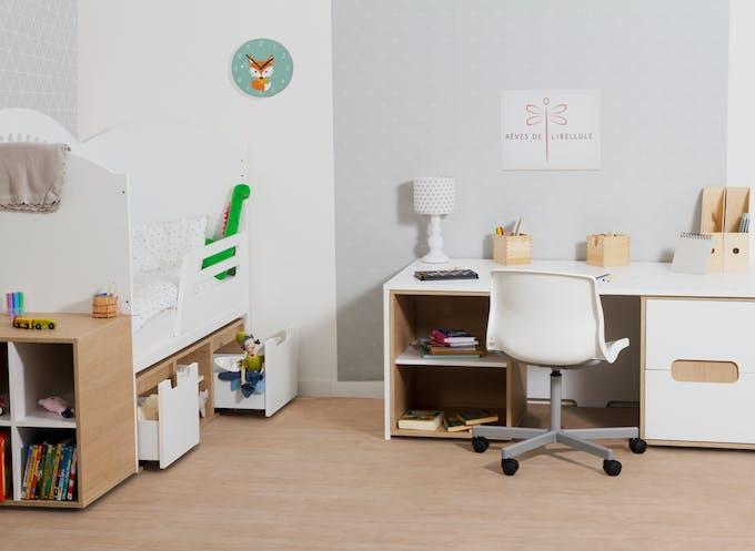 chambre enfant lit et bureau rêves de libellule