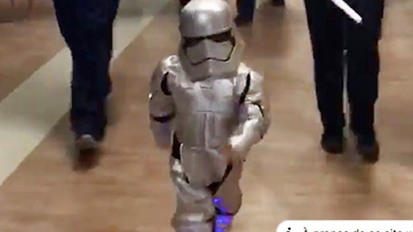 A 4 ans, elle fête la fin de son cancer déguisée en Stormtrooper de Star Wars