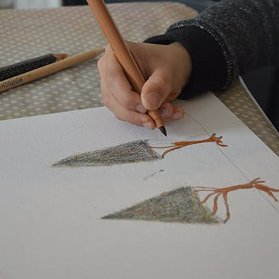 dessin enfant atelier La Carabane