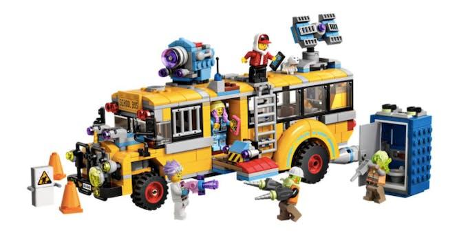 bus lego hidden side