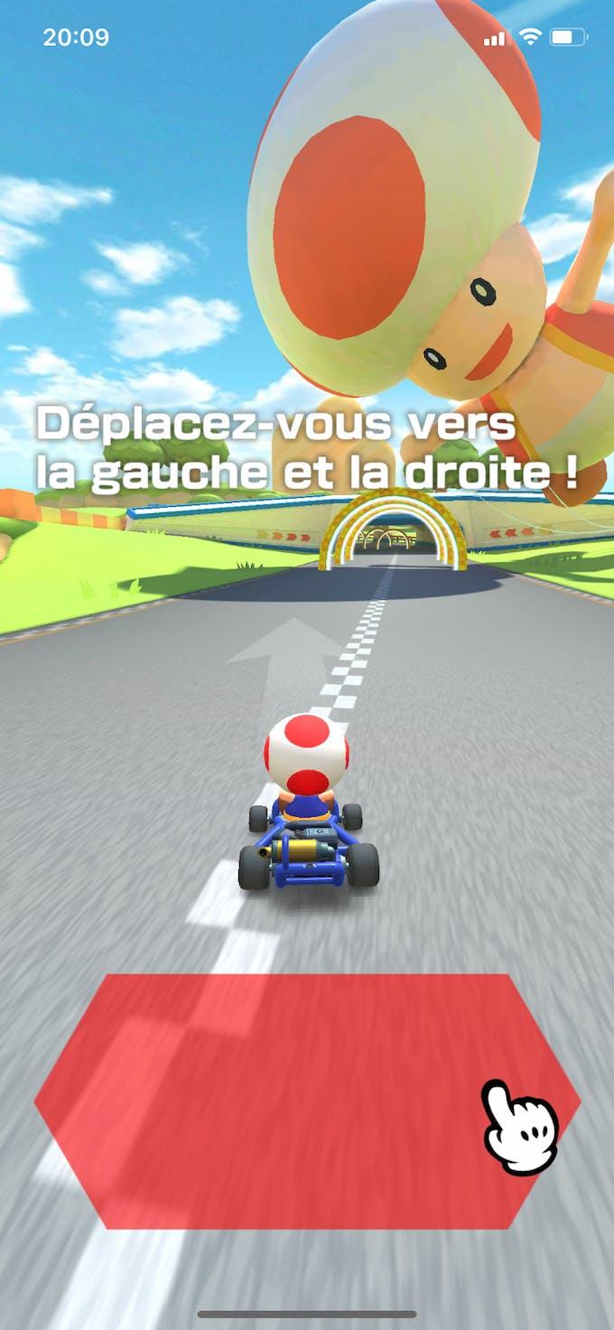 comment se déplacer Mario Kart Tour