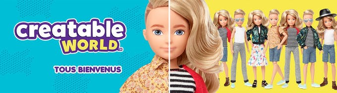 creatable world poupée blonde