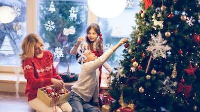 famille et déco de Noël