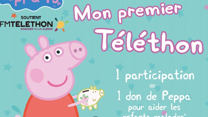Peppa Pig participe au Téléthon